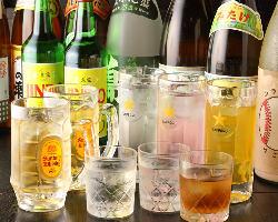 お得な飲み放題メニューも1500円でご用意しております。