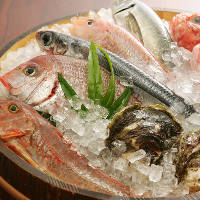 店名物!好きな魚を選んでお好みで調理する桶売り鮮魚