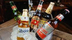 豊富に取り揃えた輸入ビール!色々な物を飲み比べて下さい。