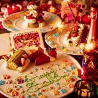 お誕生日会にもデザートプレートサービスいたします。