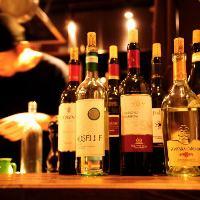 お好みのワインの種類も豊富にご用意しております。