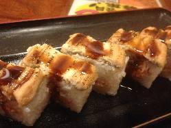 大人気♪あんきも入り!穴子の棒寿司♪