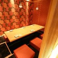 女子会にオススメ♪和モダン調の洗練された大小完全個室を完備