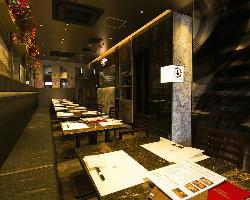 銀座コリドー街にある大人が寛げるお好み焼&鉄板ステーキの店