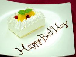 誕生日・記念日は当店へ♪アニバーサリープレートをご用意します