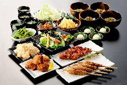 自慢の鶏料理を集めたご宴会コースは2H飲放付3,500円~