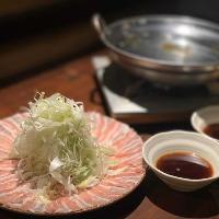 岩中豚と葱だけの「ねぎ豚しゃぶ」1人前1,418円(税込)