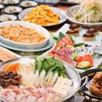 宴会にオススメ!刺身付&選べるお鍋が人気のコースが3,500円~!!