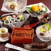 厳選した国産うなぎを使用した鰻料理を楽しめる鰻づくしコース