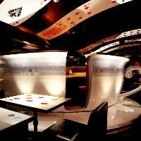 秘密のティーカップ個室は大人気です!