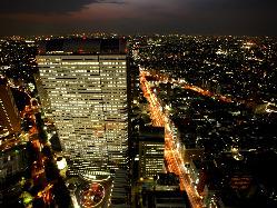 ≪野村ビル最上階≫50F 見渡す限りの新宿摩天楼の夜景
