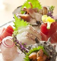 新鮮な旬の鮮魚を地元・境港や築地から仕入れます。
