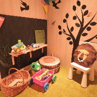 キッズルーム完備 お子様連れでも安心の個室です