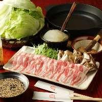 一番人気【レタしゃぶ】自家製コラーゲンと三元豚&山盛りレタス
