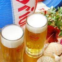 オリオンビールで乾杯 泡盛カクテルもあります
