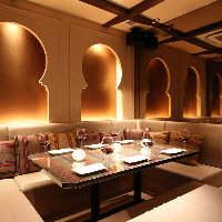 【バリ風個室】エキゾチックなアジア系個室。最大8名様