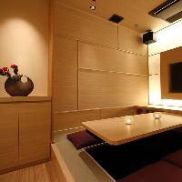 【京風和個室】掘りごたつタイプの寛げる接待個室