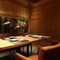 【テーブル個室】 少人数様向けの庭園のような個室のお席です