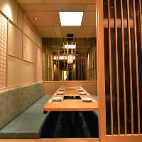 落ち着いた雰囲気の完全個室。8名様までご利用いただけます。