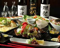 【旬の鮮魚を使用】 季節ごとに代わる宴会コースも見逃せない!