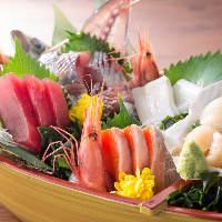 【多彩】海鮮・肉等、様々な料理を堪能!