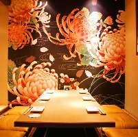 京町を思わせる店内個室と半個室。2~42名様までご案内可能です