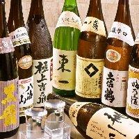 日本酒は種類豊富にご用意♪飲み放題メニューにも日本酒が充実!!