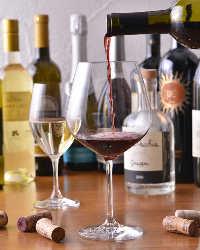 ソムリエが選びぬいた本格イタリアワインが数多く揃う