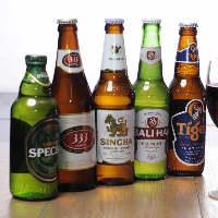 キンキンに冷えたアジアンビールをお楽しみください。