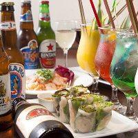 シンハーをはじめ各種アジアンビールもご用意しております!
