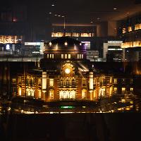【夜景】東京駅の夜の姿が見える特等席(個室ではありません)