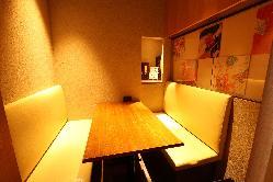 【半個室】4名様用半個室(入口のれん) ご予約はお早めに