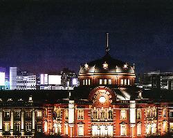 丸ビル6階 東京駅駅舎を一望の店内