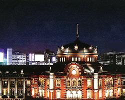 丸ビル6階。東京駅駅舎を一望できるステーションビュー。