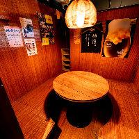 接待に記念日利用に◎大人の集いに最適な円卓個室(~6名様)完備