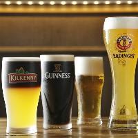 ギネスをはじめクラフトビールなど充実のドリンク
