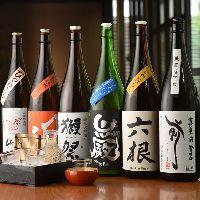 【美酒銘酒】 全国の蔵元より厳選した日本酒は常時25種以上