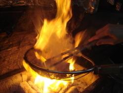 本場鹿児島から直送の薩摩知覧鶏を備長炭炙でご提供