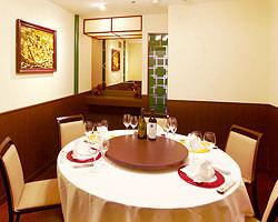 ご接待・ご会食に最適な 本格中国料理円卓の完全個室完備