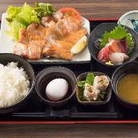 【ランチタイム】お昼は食材をメインに食べる事ができます
