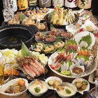 季節の宴会コースは4,000円から用意!さらには飲み放題も可◎