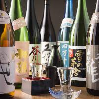 日本酒、焼酎、など料理に合うお酒をご用意してます。