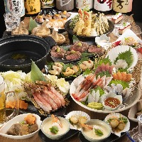 ●季節の宴会コース有り。飲み放題もセットで2,500円から。