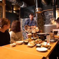 仙台牛のサーロインステーキなども食べ放題!!高コスパの宴会♪