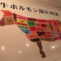 牛の部位を店内で確認ください。