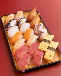 新鮮なネタを使用した人気のお寿司も、もちろん食べ放題!