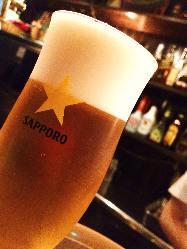 泡が決め手の生ビール!是非ご賞味あれ!