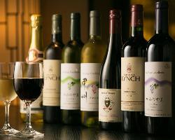 和食との相性を考えた ワインの品揃えが豊富です