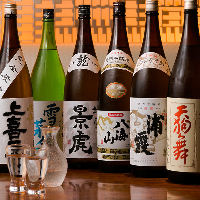 【地酒・焼酎】 全国の地酒・焼酎を各種豊富に取り揃え
