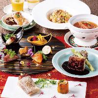 贅沢な食材をふんだんに使用したコースを多数ご用意しております